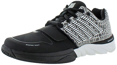 K-Swiss x-court Scarpe da tennis, da uomo, nero (Black/White/Barely Blue), 41.5