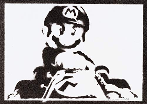 Mario Kart Poster Plakat Handmade Graffiti Street Art - - Mario Maker Amiibo Kostüm