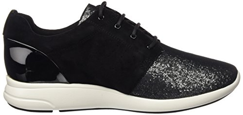 Geox Damen D Ophira A Sneakers Schwarz (Blackc9999)