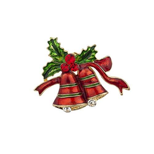 LUX Zubehör Weihnachten Urlaub Weihnachts Kirche Glocken Brosche Pin (Kleine Charme-pins)