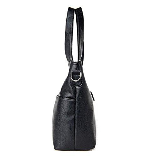 KUWOMINI.Women Bags All Seasons PU Tote Con Ruffles Rivetto Per Evento / Party Shopping Casual Sports Ufficio Formale Ufficio & Carriera Fucsia Blushing LightGray
