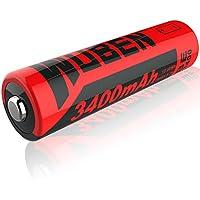 WUBEN Wiederaufladbare Akkus Batterie, 18650 2600mAh 3.7v Li-Ion Für LED Taschenlampe