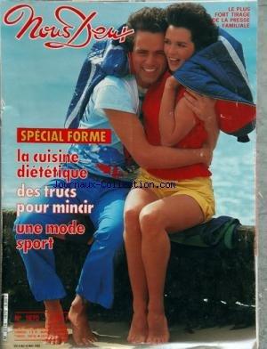 NOUS DEUX [No 1870] du 04/05/1983 - special forme - la cuisine dietetique , des trucs pour mincir - une mode sport