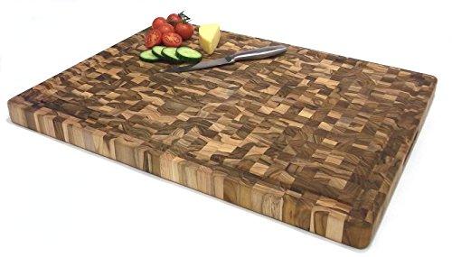Tagliere professionale grande in legno massello di teak