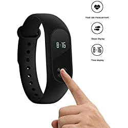 Xiaomi Mi Band 2, Smartwatch Bluetooth 4.0 per Fitness, Nero
