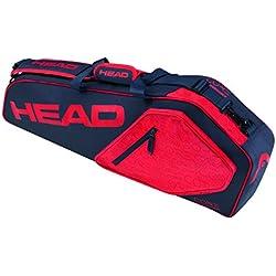 Head Core 3R Pro raqueta de tenis bolsa, color azul oscuro y rojo, tamaño talla única