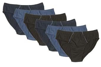 Herren-Slips, 6 Stück - HOMBRE, Farbe:navy/d-blau/blau;Größe:5