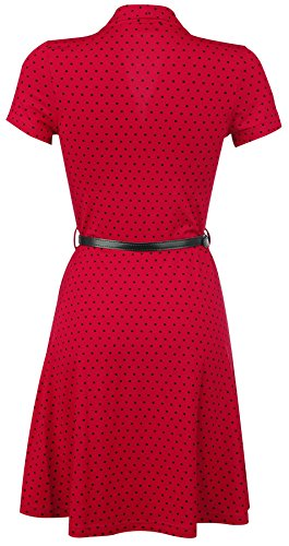 Pussy Deluxe Betty Dots Robe rouge Rouge