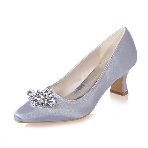 Femmes Office Tip Night 02 Chaussures Mariage YC silver 0723 Pour L VêTements Professionnels Party De wpXY44q