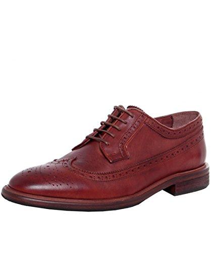 PS by Paul Smith Hommes Chaussures Derby Malloy en cuir Châtaignier Châtaignier