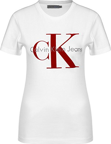 T- shirt jeans calvin klein tanya bianco m bianco