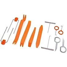sourcingmap® Vehículo Coche de audio y vídeo Radio Desmontar el kit de herramientas Retire la herramienta de mano del sistema 12 en 1
