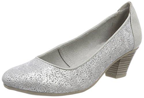 Jana Damen 22304 Pumps, Grau (Grey/Silver), 42 EU