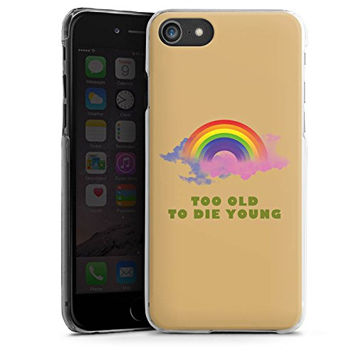 Apple iPhone X Silikon Hülle Case Schutzhülle Regenbogen Rainbow Leben Hard Case transparent