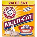 Arm & Hammer Katzenstreu 7185162er Pack MULTICAT Stärke Klumpstreu für Haustiere, 9kg