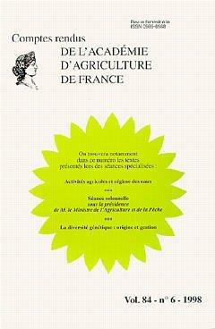 Activités agricoles, régime des eaux : la diversité génétique, origine et gestion, comptes-rendus par Aaf
