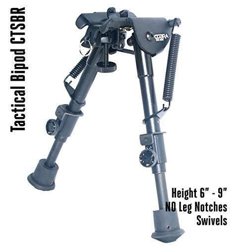 COBRA Tactical Solutions | Taktisches faltbares Zweibein/Bipod | Höhenverstellbar 15 - 23 cm | Für Airsoft Jagd Varmint Luftgewehr | wie Harris HBR -