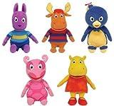 Ty Backyardigans Beanie Baby Set von 5 Beanie Babies (Tyrone, Uniqua, Pablo, Austin u. Tasha)