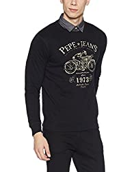 Pepe Jeans Mens Cotton Knitwear (8907557421314_PIMT200041_Black_XL)