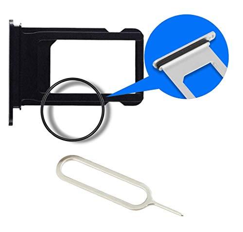 MMOBIEL SIM Karte Schlitten Tray Ersatzteil kompatibel mit iPhone 7-4.7 inch (Jet Black) incl. SIM Pin (Apple Iphone 4 Sim Card Tray)