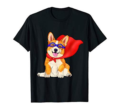 Superheld-Corgi - niedlicher Superheldhund im roten Kap T-Shirt