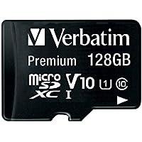 Verbatim - Flash Card MicroSDXC, 128GB, Class 10/U1, Nero