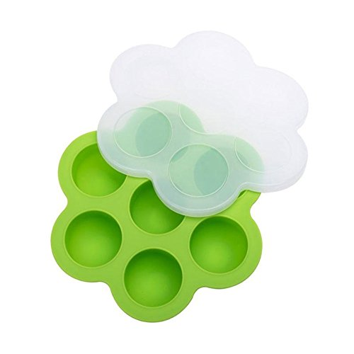 Honsin Silicone Egg Food Mold Tray Reusable Storage Container with Lid for Instant Pot Accessories New Food Storage Tray