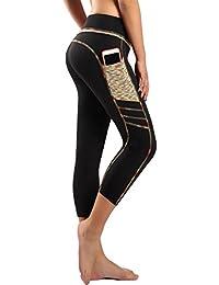 Sugar Pocket Legging de Sport Femme Stretch Yoga Jogging Fitness Running  Taille Haute avec Poche 5f192c2d681