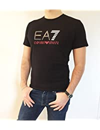EA7 - T-shirt - Homme Noir Noir -  Multicolore - Small