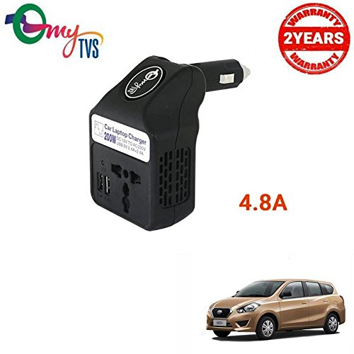 myTVS TLC-28 Black Car Laptop and Mobile Charger-Datson Redi Go