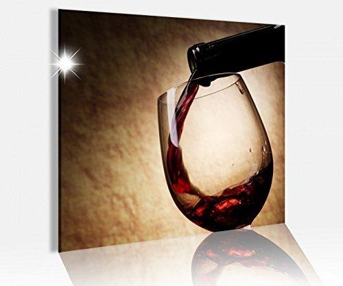 Acrylglasbild 50x50cm Wein Glas Flasche Küche braun Restaurant Acryl Druck Acrylbild Bilder Acrylglas Acrylglasbilder 14A7869, Acrylglas Größe3:50cmx50cm