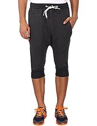 The 5ive Dark Grey Knee Length Premium Cotton Shorts