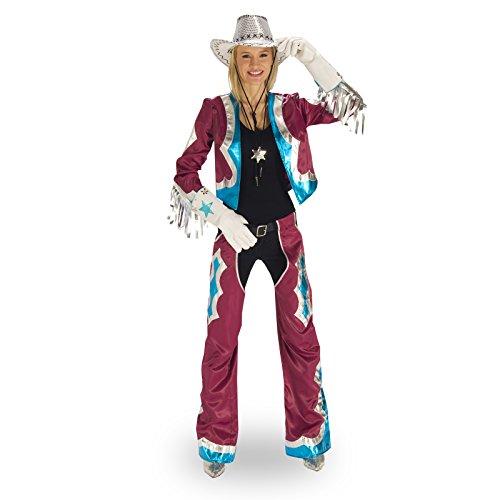 Kostüm Damen Western Anzug Las Vegas Girl 2-teilig Fransen schrill - 40/42