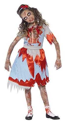 SMIFFYS Smiffy's 44284S - Zombie Country Girl Costume Blu con Vestito Cassa Stampa Dettaglio & Fascia, S