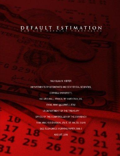 Default Estimation for Low-Default Portfolios por Nicholas M Kiefer