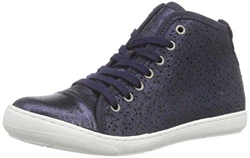 Bisgaard Shoe With Laces, Baskets hautes fille Bleu - Blau (134 Glitter-navy)