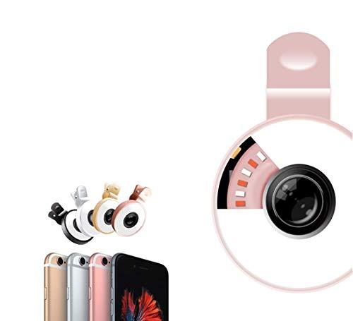 FELICIOO Fotocamera digitale con zoom ottico a led autoscatto grandangolare macro fisheye esterna (Color : Oro)