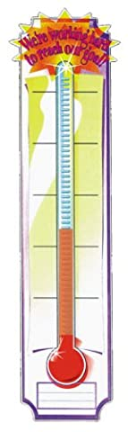 Eureka Thermometer Vertical Classroom Banner, Goal Setting, Measures 45 x