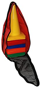 agility sport pour chiens - lot de 20 plots de délimitation 30 cm, 5 couleurs, contient également: un sac pratique - 20x MK30ryobg