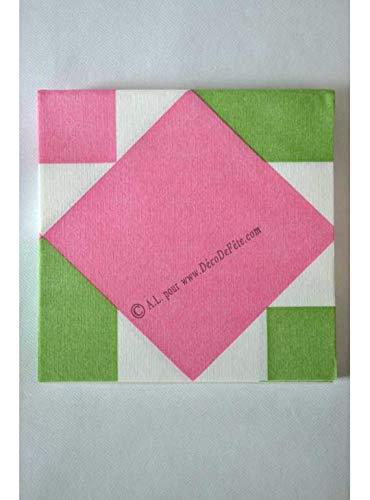 Serviette origami - Nénuphar rose - 12 pièces - Graines créatives par  Paper Design