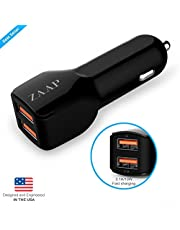 ZAAP 31 A10W 2 Port USB Car Charger Black