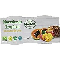Golden Organic Macedonia Tropical con Mango en Zumo de Uva Ecológico - Paquete de 12 x 240 gr - Total: 2880 gr