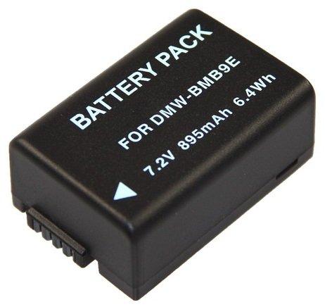 Ersatzakku für die Panasonic Lumix FZ72 / DMC-FZ72EG --- Akku für Panasonic DMW-BMB9 inkl. PATONA Displaypad