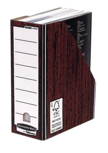 Fellowes 0723301-Premium Mgzne Datei Holzmaserung Stück (Storage Premium Box-grün)