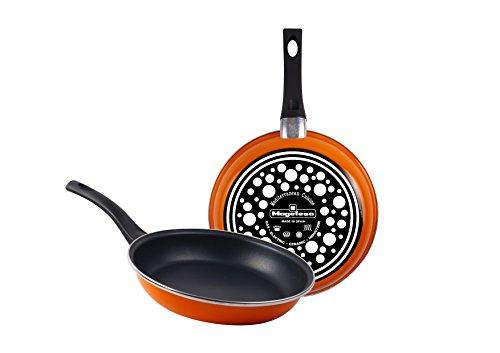 Magefesa Tangerine Pfannen-Set, Edelstahl, Orange, 24cm, 2Stück