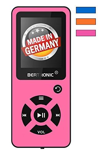 BERTRONIC Made in Germany BC03 Royal MP3-Player mit Kopfhörer, 16 GB ★ Bis 100 Stunden Wiedergabe ★ Radio | Portabler Player mit Lautsprecher | Audio-Player für Sport mit Micro SD-Karte & Silikonhülle