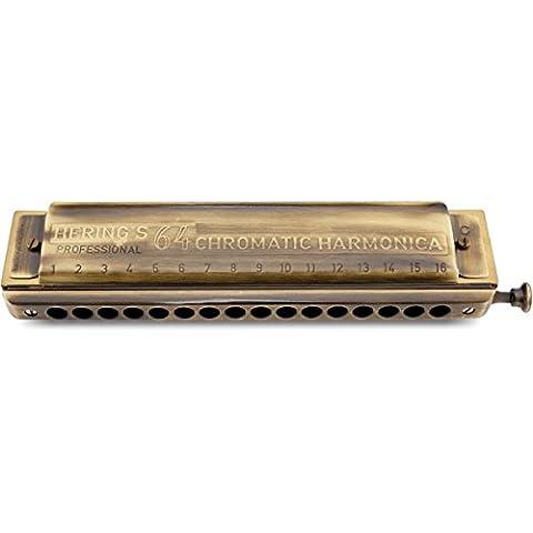 Armónica cromática en zig zag 5264 64-C dorado antiguo