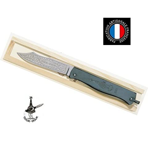 Couteau Regional - Couteau Pliant Le Douk-Douk - Manche 14 cm metal bronze + Plumier bois