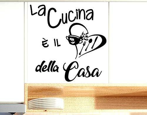 Adesivi Murali frasi Cucina la cucina è il cuore della casa scritte italiano wall stickers kitchen decorazione casa da parete cucina adesivo muro cucina citazioni decorazioni da muro Stickerdesign