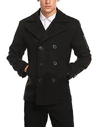 0759e35ce494 Burlady Herren Mantel Jacke Winterjacke Wärmemantel Herrenmantel Langmantel  Outwear Trenchcoat Übergangsjacke Oberteile…